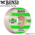BONES WHEEL PATTERNS WIDE STF V4 ボーンズ ウィール スケボー [B-6] 52mm 99A スケートボード ストリート系