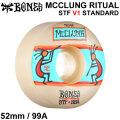 BONES WHEEL MCCLUNG RITUAL STF V1 STANDARD ボーンズ ウィール 52mm 99A [B-9] スケートボード スケボー ストリート系