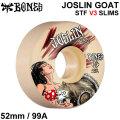 BONES WHEEL JOSLIN GOAT STF V3 SLIMS ボーンズ ウィール 52mm 99A [B-8] スケートボード スケボー ストリート系