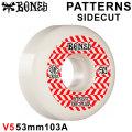 BONES WHEEL PATTERNS SIDECUT STF V5 SERIES ボーンズ ウィール スケボー [37] 53mm WHT RED スケートボード ストリート系