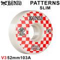 BONES WHEEL PATTERNS SLIM STF V3 SERIES ボーンズ ウィール スケボー [36] 52mm WHT RED スケートボード ストリート系