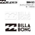 Billabong ビラボン カッティングステッカー boos13 幅120mm サーフステッカー アウトドアステッカー