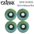 CAKRA WHEEL チャクラ スライド ドリフト ウィール スケトボード ソフト 60mm 78A [AMRTA BLUE] ダウンヒル ロンスケ クルージング スケボー