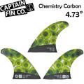 """[9月30日まで期間限定価格] CAPTAIN FIN  キャプテンフィン Chemistry Carbon 4.73"""" ケミストリー・カーボン ショートボード用 トライフィン"""