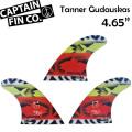 """[9月30日まで期間限定価格] CAPTAIN FIN  キャプテンフィン Tanner Gudauskas 4.65"""" タナー・ガタスカス ショートボード用 トライフィン"""