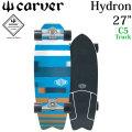 [5月末以降入荷予定] CARVER カーバー スケートボード 27インチ Hydron ハイドロン TRITON トライトンシリーズ [C5 トラック] コンプリート サーフスケート サーフィン トレーニング キッズ レディース [32]