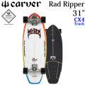 [7月以降入荷予定] CARVER カーバー スケートボード 31インチ Rad Ripper ラッドリッパー [CX4 トラック] コンプリート サーフスケート サーフィン トレーニング [53]