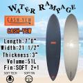 【送料無料】[8月中旬入荷予定] WATER RAMPAGE  ウォーターランページ サーフボード CASH-YEW 7'0 ファンボード ソフトボード スポンジボード ALMOND