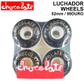 CHOCOLATE WHEEL LUCHADOR WHEELS チョコレート ウィール 52mm 99DURO(99A) [C-6] スケートボード スケボー SK8