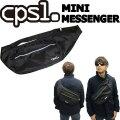 [現品限りfollows特別価格] cpsl カプセル MINI MESSENGER ミニメッセンジャー BLACK ショルダーバッグ メッセンジャーバッグ 斜め掛け