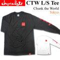 [メール便発送商品] CHOCOLATE チョコレート 長袖 CTW LS Tee Chunk the World Tokyo Tシャツ スケート スケボー