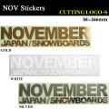 NOVEMBER【ノベンバー】ステッカー CUTTING LOGO-S  カッティング ロゴ エス スノーボード ステッカー