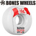 BONES WEELS ボーンズ ウィール  DECENZO FLOWERS 53mm [STF] bones スケートボードウィール 正規品