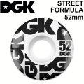 DGK ディージーケー ウィール スケートボード STREET FOURMULA [6] 52mm 101A SKATE BOARD WHEEL 4個1セット スケボー