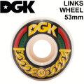 DGK ディージーケー ウィール スケートボード LINKS WHEEL [7] 53mm 101A SKATE BOARD WHEEL 4個1セット スケボー
