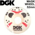 DGK ディージーケー ウィール スケートボード MASK WHEEL [9] 52mm 101A SKATE BOARD WHEEL 4個1セット スケボー