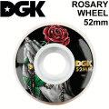 DGK ディージーケー ウィール スケートボード ROSARY WHEEL [8] 52mm 101A SKATE BOARD WHEEL 4個1セット スケボー