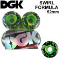 DGK ディージーケー ウィール スケートボード SWIRL FORMULA [D10] 52mm 101A SKATE BOARD WHEEL 4個1セット スケボー