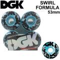 DGK ディージーケー ウィール スケートボード SWIRL FORMULA [D11] 53mm 101A SKATE BOARD WHEEL 4個1セット スケボー