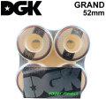 DGK ディージーケー ウィール スケートボード GRAND グランド [D12] 52mm 101A SKATE BOARD WHEEL 4個1セット スケボー