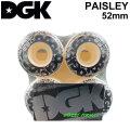 DGK ディージーケー ウィール スケートボード PAISLEY ペイズリー [D13] 52mm 101A SKATE BOARD WHEEL 4個1セット スケボー