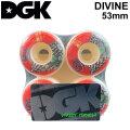 DGK ディージーケー ウィール スケートボード DIVINE ディヴァイン ディバイン [D14] 53mm 101A SKATE BOARD WHEEL 4個1セット スケボー