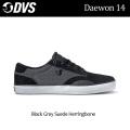 現品限り特別価格 DVS ディーブイエス スケートシューズ Daewon 14(004)Black_Grey_Suede_Herringbone メンズ スニーカー SK8 シューズ