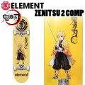 ELEMENT x 鬼滅の刃 コラボ スケートボード コンプリート ZENITSU 2 COMP [EL-132] 8.0inch BB027-456 我妻善逸 完成品 スケボー 正規品