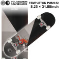 FOUNDATION ファンデーション スケートボード コンプリート TEMPLETON PUSH #2 (8.25 × 31.88) [F-108] 完成品 スケボー SKATE BOARD COMPLETE