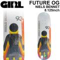 GIRL ガール スケートボード デッキ FUTURE OG  NIELS BENNET ニールス・ベネット [GL-40] 8.125inch スケボー パーツ SKATE BOARD DECK