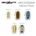 GENTEM STICK ゲンテンスティック MFG STICKER [シールタイプ]スノーボード ステッカー