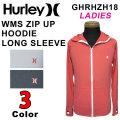 [現品限り特別価格] 2018 Hurley ハーレー ラッシュガード レディース WMS ZIP UP HOODIE [GZRHZH18] ロングスリーブ 長袖 サーフィン マリンスポーツ