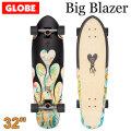 [5月末頃入荷予定] GLOBE スケートボード グローブ Big Blazer [7] DK Black Resin 32インチ コンプリート サーフスケート スケボー サーフィン トレーニング