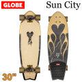 [5月末頃入荷予定] GLOBE スケートボード グローブ Sun City [9] 30インチ コンプリート サーフスケート スケボー サーフィン トレーニング