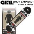 GIRL ガール スケートボード コンプリート SIMON BANNEROT サイモン・バナロット [GL-133] [GL-134]  完成品 スケボー SKATE BOARD COMPLETE