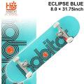 HABITAT スケートボード コンプリート ハビタット ECLIPSE BLUE [8.0×31.75インチ] [H-102] スケボー 完成品 SKATE BOARD COMPLETE