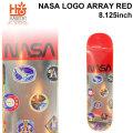 HABITAT スケートボード デッキ ハビタット NASA LOGO ARRAY RED [8.125×31.625インチ] [HA-5] スケボー パーツ SKATE BOARD DECK