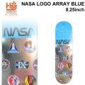 HABITAT スケートボード デッキ ハビタット NASA LOGO ARRAY BLUE [8.25×31.75インチ] [HA-7] スケボー パーツ SKATE BOARD DECK