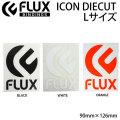FLUX フラックス ステッカー ICON DIECUT ロゴ カッティング [4] [5] [6] Lサイズ [90mmx126mm] スノーボード