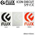 FLUX フラックス ステッカー ICON DIECUT ロゴ カッティング[1] [2] [3] Sサイズ [60mmx83mm] スノーボード