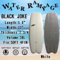 【送料無料】WATER RAMPAGE  ウォーターランページ サーフボード BLACK JOKE 5'0 WHITE ショートボード ソフトボード スポンジボード