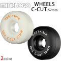 MINI LOGO 【ミニロゴ】 WHEELS ウィール C-CUT 52mm 101A [M-9] [M-10] 4個1セット スケボー ウィール スケートボード sk8 skateboard