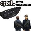 cpsl. 【カプセル】 MINI MESSENGER 【ミニメッセンジャー】 ブラック ショルダーバッグ