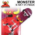 TOY MACHINE トイマシーン スケートボード followsオリジナル コンプリート MONSTER (8.125 × 31.75) [TM-117] 完成品 スケボー SKATE BOARD COMPLETE