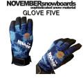 [アウトレット価格] 16-17 NOVEMBER ノベンバースノーボード グローブ GLOVE FIVE グローブファイブ スノーボード グローブ 5本指タイプ