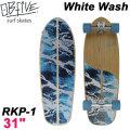 OB Five オービー ファイブ サーフスケート White Wash ホワイトウォッシュ RKP-1 31インチ [5] SURF TRUCK スケートボード オブ ファイブ スケボー