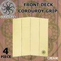 [送料無料]OCTOPUS オクトパス デッキパッド FRONT DECK フロントデッキ [CREAM] 4ピース CORDUROY GRIP サーフィン用 フロント デッキパッチ
