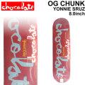 CHOCOLATE スケートボード デッキ チョコレート OG CHUNK SERIES YONNIE CRUZ ヨニー・クルーズ [CH-23] 8.0inch スケボー パーツ SKATE BOARD DECK