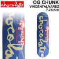 CHOCOLATE スケートボード デッキ チョコレート OG CHUNK SERIES VINCENT ALVAREZ ヴィンセント・アルバレス [CH-25] 7.75inch スケボー パーツ SKATE BOARD DECK