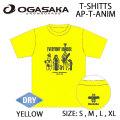OGASAKA Sowboard オガサカスノーボード 半袖 DRY ドライ プリント アニマル Tシャツ [10] AP-T-ANIM/YE